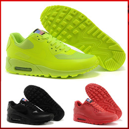 e75cd837a34b New 90 HYP PRM QS Men Women Running Shoes 90s American Flag Black White Red  Navy Blue Gold Silver Pink Sport Trainers 36-45
