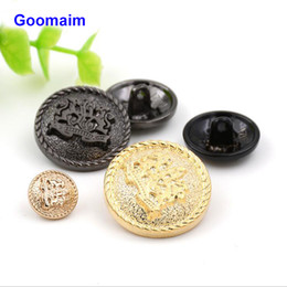$enCountryForm.capitalKeyWord Canada - 100 pcs 18 mm relief double lion metal buttons sewing jean metal buttons for ladies sweater fashion coat buttons for jeans