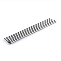 $enCountryForm.capitalKeyWord NZ - Durable Stainless Steel Straight Drinking Straw Metal Bar Family kitchen Reusable Straws For Beer Fruit Juice Drink MMA1806
