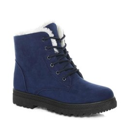 e751b35141b Snow boots 2018 classic heels suede women winter boots warm fur plush Insole  ankle boots women shoes hot lace-up shoes woman