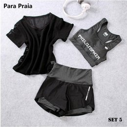 $enCountryForm.capitalKeyWord UK - High Waist Three Piece Yoga Set Sportswear For Women Sports Bra Fitness Clothing Women Sports Shorts Gym Workout Crop Top Women SH190901