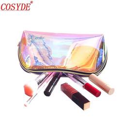 $enCountryForm.capitalKeyWord Australia - Fashion Small Toilet Bag For Women Mini Transparent Cosmetic Bag Travel Pvc Makeup Organizer Zipper Holographic Makeup Pouch