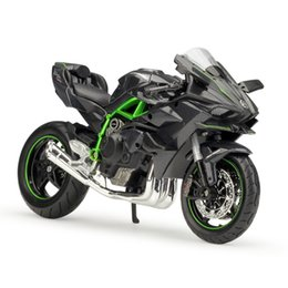 motorcycle collection UK - 1:12 Ninja H2R H2 R 1:12 scale Motorcycle Diecast Metal Bike Miniature Race Toy For Gift Collection
