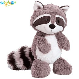 Chinese  Gray Raccoon Plush Toy Lovely Raccoon Cute Soft Stuffed Animals Doll Pillow for Girls Children Kids Baby Birthday Gift 25cm manufacturers