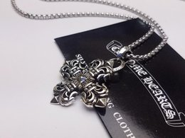 Flame Chain Australia - Designer necklace Vintage flame cross flower necklace Men and women necklace Luxury top tide brand 2019 brand fashion luxury fashion accesso