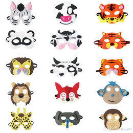 Wholesale superhero suits resale online - 20 style Kid superhero Animal Mask felt Party masquerade Mask Panda Fox Cow mask Halloween Christmas costumesmasks party favors gifts