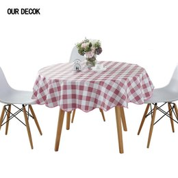 Discount wholesale round table covers - Pastoral Plastic Round Tablecloth PVC Oil Proof Waterproof Romantic Florals Printed Table Cover Wedding Decoration Table