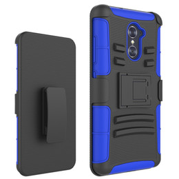 zte case belt Australia - Dual Layer Protective Hybrid Rugged Case for ZTE Grand X3 Warp 7 Imperial Max Z963 X Max 2 Shockproof Cover Belt Clip Holster