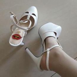 $enCountryForm.capitalKeyWord Australia - Summer Platform Spiked Gladiator Sandals Women Striped Metallic High Heels Pumps Escarpins Ladies Prom Wedding Shoes Mary Jane Shoes c121