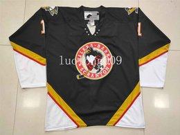 Personalizar Wilkes Barre Scranton Penguins 1 de DWIGHT Hockey Jersey bordado costurado qualquer número e nome Jerseys em Promoção
