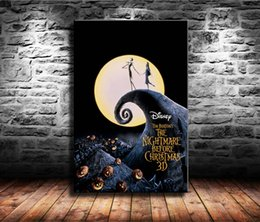 Framed Christmas Paintings Australia - 1 Pieces Canvas Prints Wall Art Oil Painting Home Decor The Nightmare Before Christmas (Unframed Framed) 24x36.