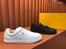 $enCountryForm.capitalKeyWord Australia - New Designer Brand Flats casual shoes white Bottom for Men Women Party Lovers Genuine Leather shoes Sneakers Monster eyes FF Plate shoes