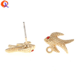 Swallow acceSSorieS online shopping - MM Jewelry Accessories Earring Connectors Parts Swallow Shape Zinc Alloy Hand Made Earring Findings