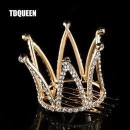 $enCountryForm.capitalKeyWord Australia - DQUEEN Tiaras and Crowns with Comb Gold Color Kids Girls Mini Round Hair Jewelry Accessories Pageant Prom Princess Tiara Crown TDQUEEN Ti...