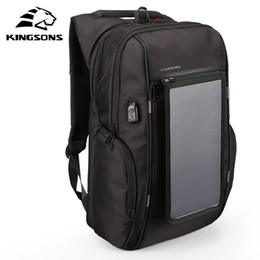 $enCountryForm.capitalKeyWord Australia - Solar Panel Backpacks 15.6 inches Convenience Charging Laptop Bags for Travel Solar Charger Daypacks
