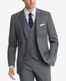 $enCountryForm.capitalKeyWord Australia - Gray Goorm Tuxedos Two Button Notched Lapel Men tuxedos groom wedding Slim Fit mens designer spring Three Pieces (Jacket+pants+Tie))