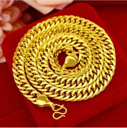 thailand necklaces Australia - 2019 sand gold necklace male authentic 999 gold jewelry authentic Thailand big gold chain thick beads long time not fade