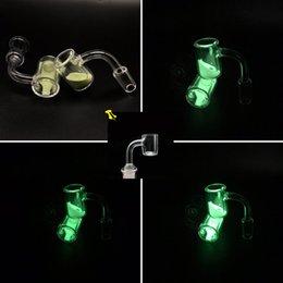 $enCountryForm.capitalKeyWord Canada - BOGOF Thermochromic Quartz Banger Nails 10mm 14mm 18mm Male Female Luminous Quartz Banger With Free 4mm Banger For Glass Water Bongs Oil Rig