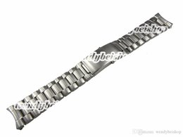 22mm stainless watch band Canada - 20 22mm New Silver Stainless Steel Watch Band Strap Belt Bracelet Professional Double Push Deployment Glide Lock Clasp