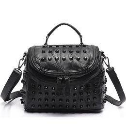 Branded Handbags Australia - 2017 Luxury Women Genuine Leather Bag Sheepskin Messenger Bags Handbags Famous Brands Designer Female Handbag Shoulder Bag Sac