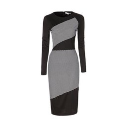 $enCountryForm.capitalKeyWord Australia - Wholetide New Women Dress Black white Striped Long-sleeved Dresses Sexy Slim Hip Pencil Casual Over Size Dress For Girls