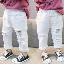 Years old girl jeans online shopping - White Ripped Jeans for Girls Spring Summer Children s Jeans New Fashion Loose Clothes for Boys Baby Girl Years Old