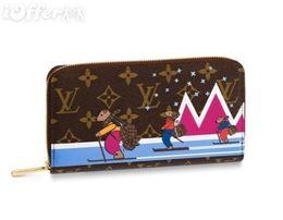 $enCountryForm.capitalKeyWord UK - M63379 Women Canvas Bears Ski Zippy Wallet Purse Bag Zip Clutch Handbag Purse Bag Brown Wallet Purse Belt Bags Mini Bags Clutches Exotics