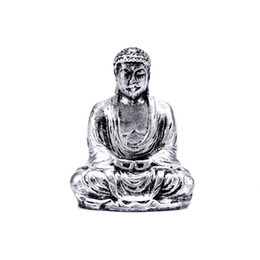 resin buddhas wholesale Australia - Handmade Resin Craft Buddha Statue Sculpture Meditating Antique Style Home Decor Car Ornament
