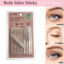 lace double eyelids tape Canada - 120 pairs double eyelid fiber tape Gauze mesh lace stick Stealth double-fold eyelid sticker without glue Tools Hot Hot