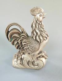$enCountryForm.capitalKeyWord Australia - Chinese exquisite crafts white copper zodiac chicken Statue
