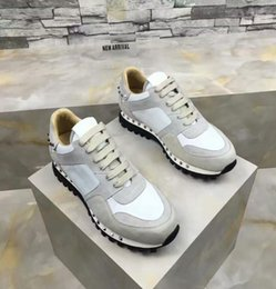 rock band shoes 2019 - 2019[Original Box] 2017 Luxury Designer Rock Stud Sneaker Shoes High Quality Women,Mens Casual Shoes Rock Runner Trainer