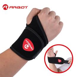 $enCountryForm.capitalKeyWord Australia - Arbot Adjustable Wrist Support Wrist Joint Brace Black Nylon Sport Wristband Use For Ball Games Running Fitness #392943