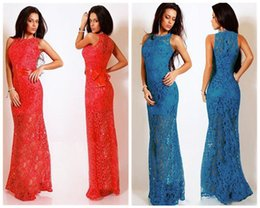 $enCountryForm.capitalKeyWord Australia - Lace Sleeveless Long Dress Lace Sleeveless Sexy Formal Cocktail Gown Party Maxi Long Dress Sleeveless Dress