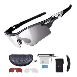 Wholesale Sport Photochromic Polarized Glasses Cycling Eyewear Bicycle Glass MTB Bike Bicycle Riding Fishing Cycling Sunglasses