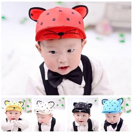 Cat ears baseball hat online shopping - Rabbit Ear Baseball Cap Summer Lovely Cat Print Sunhat Baby Kids Hats Colors Cartoon Peaked Sunshade Cap sun protection color