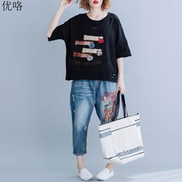 90e3544a46 Embroidered Tees Women S Australia - Harajuku Plus Size Embroidered Letter  Print T Shirt Women Summer