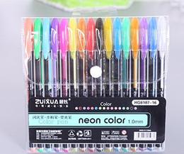 $enCountryForm.capitalKeyWord Australia - Hot 16 color fresh flash pen DIY student graffiti coloring stationery supplies stationery highlighter gouache mini wholesale