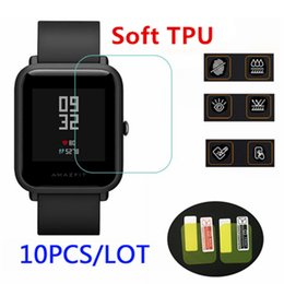 thinnest smart watches 2019 - 10pcs wholesale original for xiaomi huami Amazfit bip Screen Protectors ultra-thin protective film full HD TPU smart mov