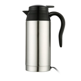 $enCountryForm.capitalKeyWord Australia - 750ml 12 24V Heating Mug Car Water Heater Silver Universal For Coffee Milk Pot Household Electric Stainless Steel