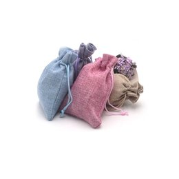 $enCountryForm.capitalKeyWord UK - Wholesale 10pcs 10x14cm Jewelry Bags Linen Bag Drawstring Wedding Packing pouchs&Gift Bags Mini Jute Bags Can Customize Logo