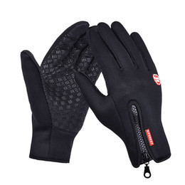 Leather Gloves Sale Australia - wholesale Hot Sale Windproof Outdoor Sports Gloves, bicycle gloves, warm velvet warm touch capacitive screen phone tactical gloves