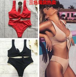 a5e4ac3fe Girls Pink Thongs Australia - 2018 Bikini Set Knotted Padded Thong Bikinis  Girl Swimwear Swimsuit Scoop