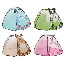Discount outdoor girls tent - Children Tent Game Room Home Cute Foldable Tent For Girl Outdoor Indoor Play House Toy Ocean Ball Pool Game House Play B