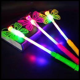 Flashing Fairy wands online shopping - Glow dragonfly magic wand flash fairy wand children s toys glow stick night market goods hot