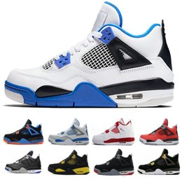 4f5bb0bf9514 Cheap Top 4 men basketball shoes sneakers thunder White Cement Pure Money  Bred Royalty Game Royal 4s Sports shoes US 7-13