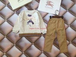 $enCountryForm.capitalKeyWord NZ - Children trousers sets kids designer clothing portrait print sweatshirt + casual pants 2pcs autumn boys and girls new cotton sets