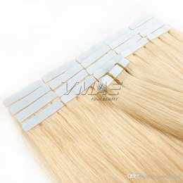glued human hair extensions Australia - 2.5g piece 40pieces pack Glue Skin Weft Tape in Hair Extensions 18 20 22 24 Inch Brazilian Indian VMAE Human Hair Extensions