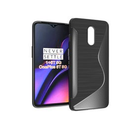 Case Tpu S Gel Australia - New Arrival S Line Brushed Silicone Soft TPU Gel Back Cover Skin Bag For One Plus 6T 5G For Oneplus 7 Phone Funda Cases