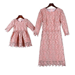 hot spring outfits Australia - Mom Daughter Lace Dresses Mother Girls Party Dress Kids Girl Dress Women Plus Size 4XL Dress 2020 Hot Family Match Outfits Clothes S311