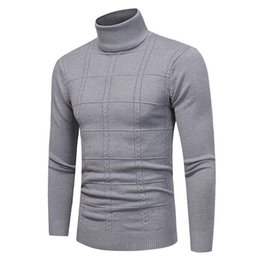 Hand Slim Belt NZ - 2019 New Autumn Winter Men's Sweater Men's Turtleneck Solid Color Casual Sweater Men's Slim Fit Brand Knitted Pullovers 4xl
